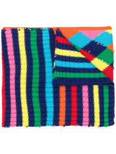 шарф с контрастным узором Mira Mikati