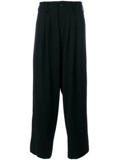 широкие брюки  с плиссировкой Yohji Yamamoto