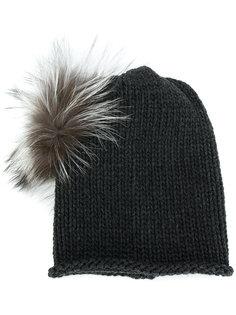 pompom trim hat Inverni