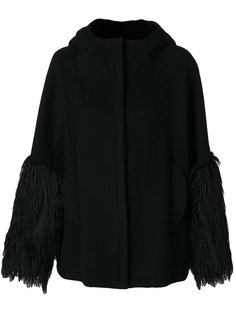пальто с бахромой на манжетах  Giamba