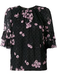блузка в горошек с принтом  Giambattista Valli