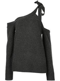 свитер с открытыми плечами  Goen.J