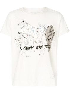 футболка с потертой отделкой Heaven Garcons  Infideles