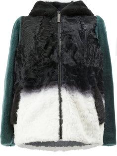 """куртка с капюшоном дизайна """"колор-блок"""" Maison Ullens"""
