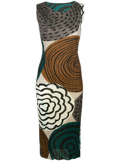 floral printed dress Pleats Please By Issey Miyake
