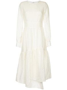 асимметричное платье с оборкой  Goen.J
