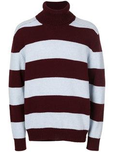 полосатый свитер с отворотной горловиной Laneus