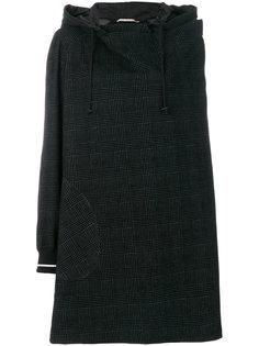 свободное пальто в клетку с капюшоном  IM Isola Marras
