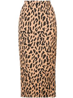 юбка с высокой талией и леопардовым узором Diane Von Furstenberg