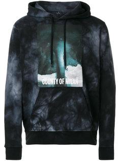tie dye graphic print hoodie Marcelo Burlon County Of Milan