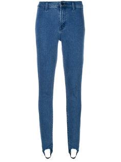 джинсы скинни с манжетами  J Brand