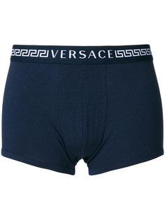 боксеры с логотипом на резинке Versace