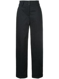 строгие брюки с завышенной  Jil Sander Navy