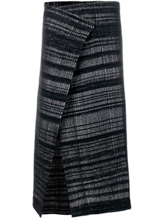 slit wrapped skirt A New Cross