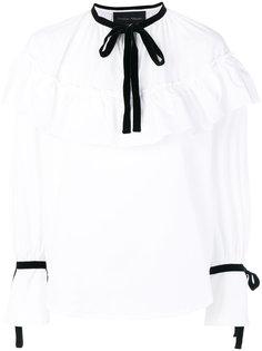 блузка с бантом и оборкой  Christian Pellizzari