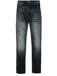 укороченные джинсы с необработанным краем  Saint Laurent