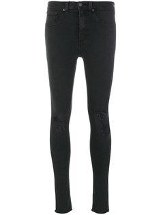 джинсы скинни с прорехами на коленях  Rag & Bone