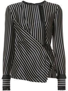 striped wrap blouse Yigal Azrouel