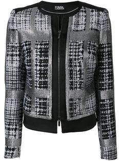 твидовый пиджак в клетку  Karl Lagerfeld