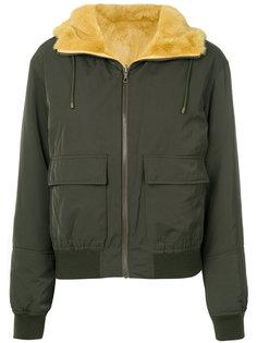 двухсторонняя куртка с мехом  Army Yves Salomon