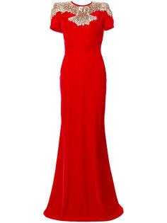 платье с вышитым орлом  Alexander McQueen