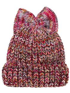 bow detail beanie hat  Federica Moretti