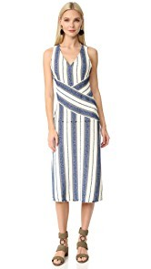 EDUN Marine Stripe Dress
