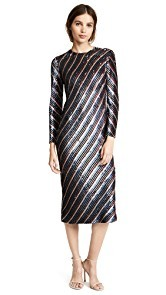 ASHISH Bias Sequin Dress