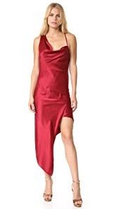 Michelle Mason Bias Cowl Maxi Dress