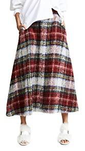 pushBUTTON Plaid Midi Skirt
