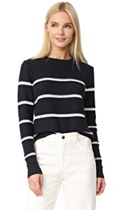 Jenni Kayne Pointelle Stripe Sweater