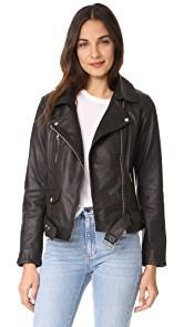 Scotch & Soda/Maison Scotch Basic Leather Biker Jacket