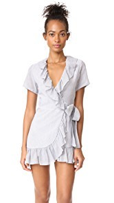 Sincerely Jules Striped Gauze Ruffle Dress