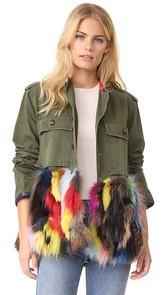 Harvey Faircloth Field Jacket with Fur Trim