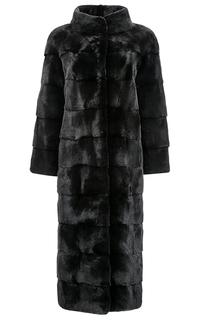 Длинное пальто из аукционного меха норки BLACKGLAMA Vericci
