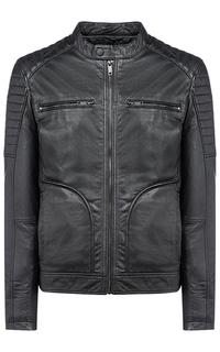 Мужская утепленная куртка из натуральной кожи Urban Fashion for men