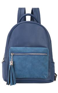 Синий рюкзак из экокожи La Reine Blanche