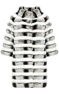 Шуба из меха кроликаи натуральной кожи Virtuale Fur Collection