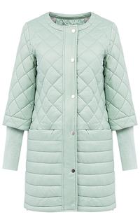 Мятная куртка на синтепоне с триктожными манжетами La Reine Blanche
