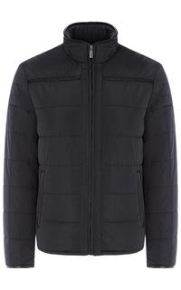 Мужская утепленная куртка с отделкой экокожей Jorg Weber