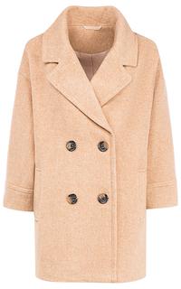 Двубортное полушерстяное пальто с английским воротником La Reine Blanche