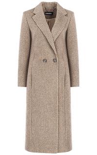 Длинное полушерстяное пальто с английским воротником La Reine Blanche