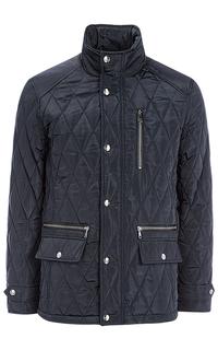 Мужская утепленная куртка с отделкой экокожей Al Franco