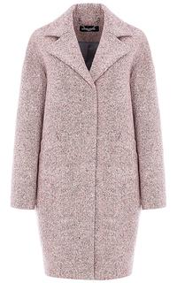 Розовое твидовое пальто La Reine Blanche