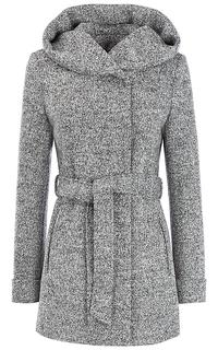 Женское полушерстяное пальто с поясом и капюшоном La Reine Blanche