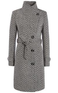 Полушерстяное пальто с поясом La Reine Blanche