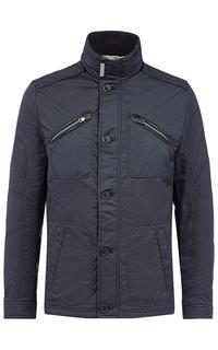 Куртка на синтепоне с отделкой экокожей и трикотажем Jorg Weber