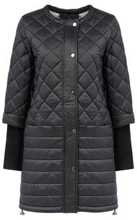Черная куртка на синтепоне с триктожными манжетами La Reine Blanche