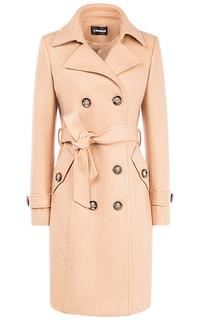 Двубортное пальто с поясом La Reine Blanche