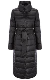 Черное пальто на натуральном пуху La Reine Blanche